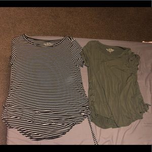 BRAND NEW 2hollister shirts with lace up the sides